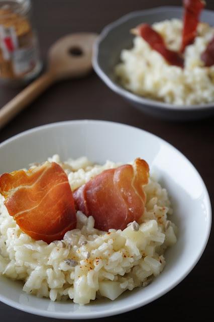 the cook time risotto au fenouil et jambon sec. Black Bedroom Furniture Sets. Home Design Ideas