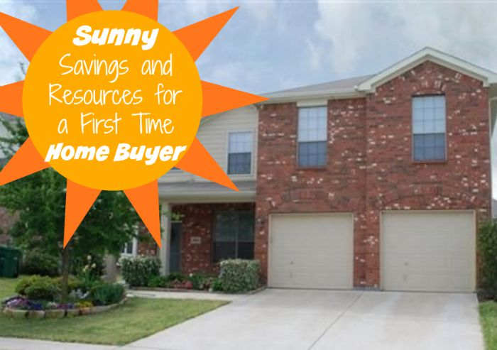 Sunny Savings and Resources for a First Time Home Buyer