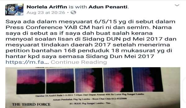 ADUN PKR Penanti Dedah Propaganda Kerajaan DAP Pulau Pinang