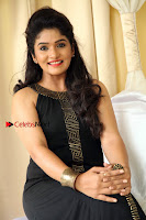 Kannada Actress Divya Uruduga Pos in Black Long Dress at Huliraaya Movie Audio Release Event  0008.jpg