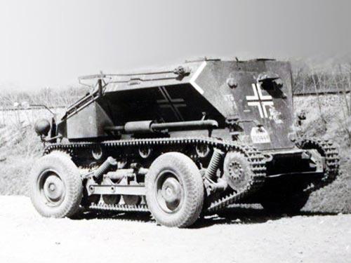 Средний разведывательный колёсно-гусеничный бронеавтомобиль Sd.Kfz. 254 на колесном ходу