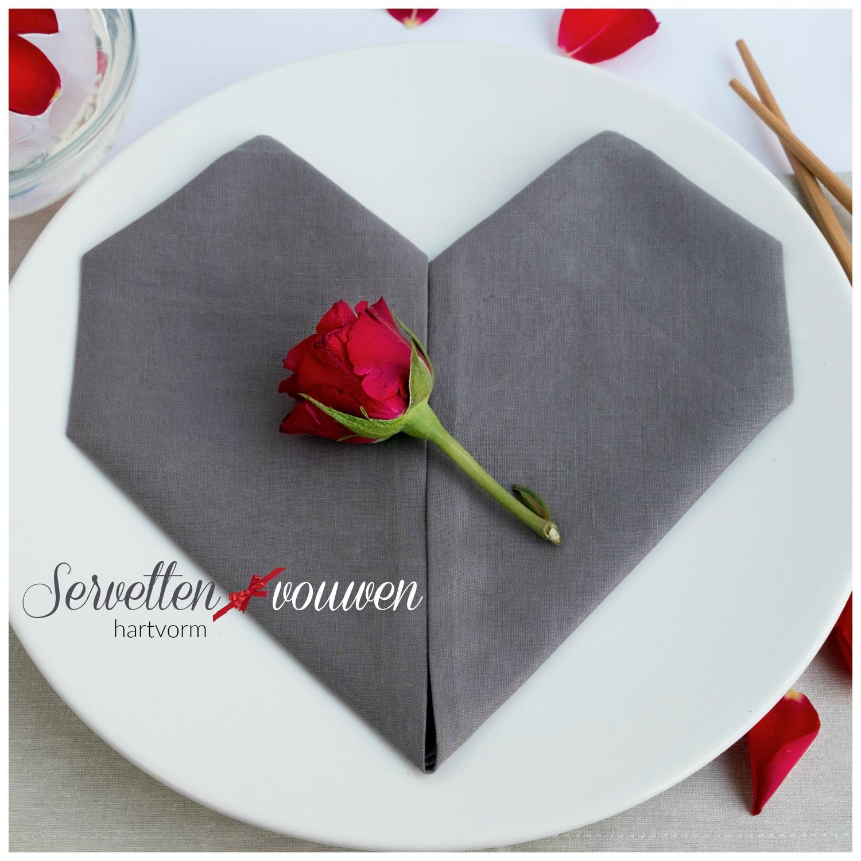 Top Servetten vouwen voor Valentijnsdag, bruiloft en Moederdag  #AE67