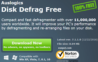 Auslogics disk defrag offline installer free download