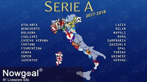 Các đội bóng tham gia Serie A 2017-2018.