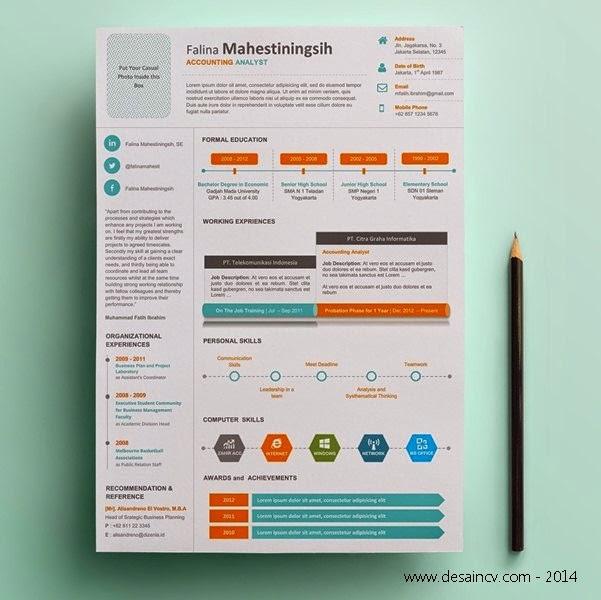 Contoh CV Infografis Menarik