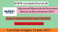 Advanced Materials & Processes Research Recruitment 2017- Scientist, Senior Scientist