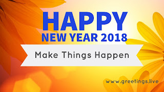 New year 2018 wishes on sunrise time