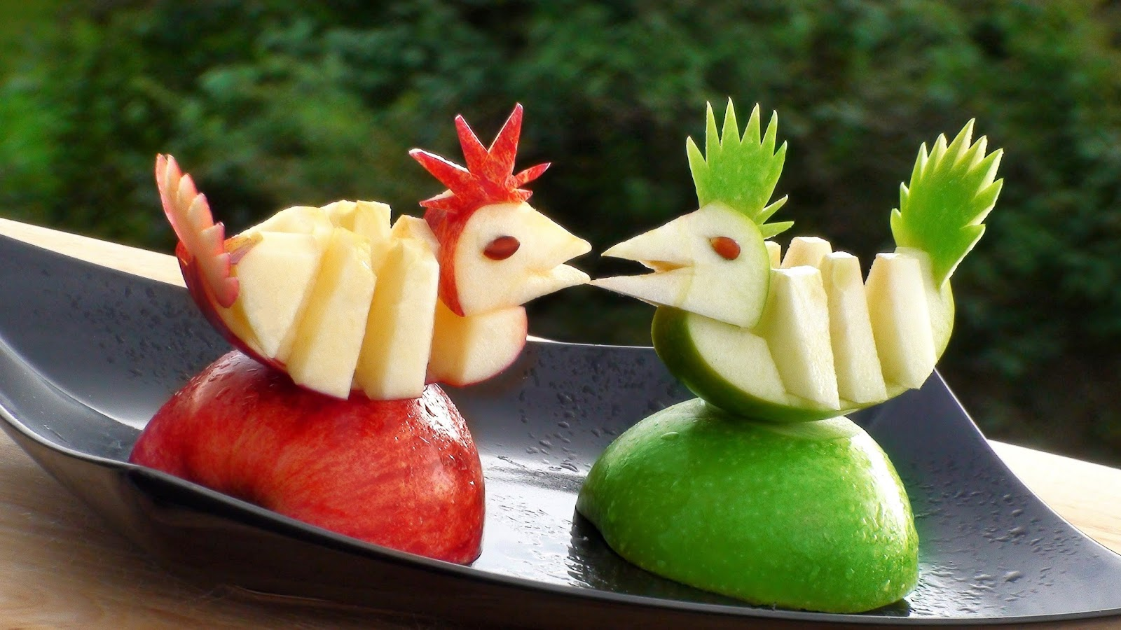 Fruit decoration art craft art ideas for Apples decoration