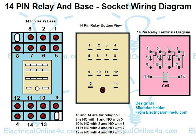 14 pin relay base wiring diagram