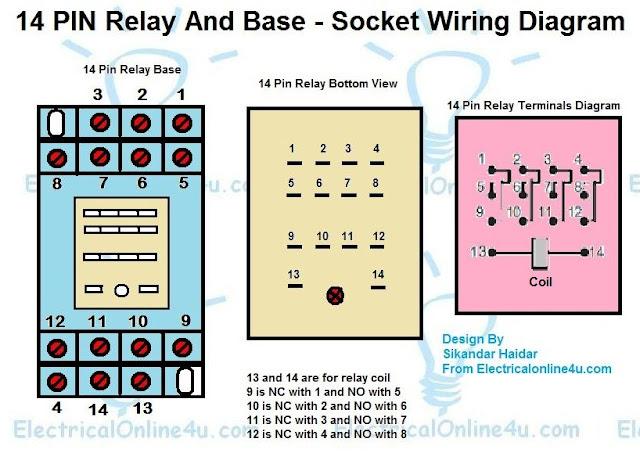 14 Pin Relay Wiring Diagram Wiring Schematic Diagram