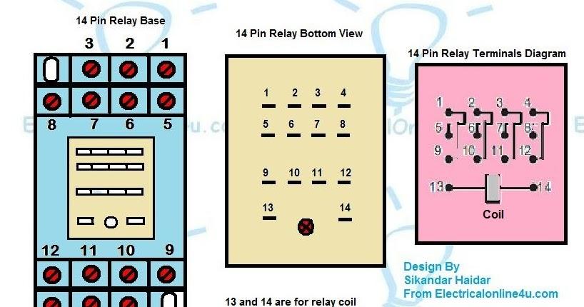 14 pin relay socket wiring diagram 2000 nissan frontier fuel pump base - finder   electrical online 4u