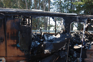 burned motor home