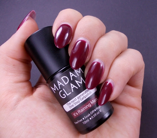Madam Glam It's raining men gel one step polish review swatch 5