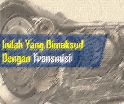 Transmisi: Pengertian Transmisi, Fungsi, Cara Kerja & Tipe-Tipenya - Pengertian Transmisi adalah salah satu dari sistem pemindah tenaga dari mesin ke diferensial kemudian keporos axle yang mengakibatkan roda dapat berputar dan menggerakkan mobil, Demikian ini terjadi agar dapat berfungsi mendapatkan variasi momen dan kecepatan sesuai dengan kondisi jalan dan kondisi pembebanan, yang pada umumnya dengan menggunakan perbandingan-perbandingan roda gigi dan untuk mereduksi putaran sehingga diperoleh kesesuaian tenaga mesin dengan beban kendaraan.  Fungsi Transmisi: Apa itu?  Fungsi transmisi adalah untuk mengatur perbedaan putaran antara mesin dengan putaran poros yang keluar dari transmisi. Pengaturan putaran ini dimaksudkan agar kendaraan dapat bergerak sesuai beban dan kecepatan kendaraan.  Sistem Transmisi adalah salah satu komponen sistem penyediaan air bersih yang berfungsi untuk mengalirkan air dari sumber air ke reservoir air dan instalasi pengolahan air, serta dari reservoir air ke reservoir air lainnya. Transmisi yaitu salah satu bagian dari sistem pemindah tenaga yang berfungsi untuk mendapatkan variasi momen dan kecepatan sesuai dengan kondisi jalan dan kondisi pembebanan, yang umumnya menggunakan perbandingan roda gigi.  Prinsip dasar transmisi adalah bagaimana mengubah kecepatan putaran suatu poros menjadi kecepatan putaran yang di inginkan.  Gigi transmisi berfungsi untuk mengatur tingkat kecepatan dan momen mesin sesuai dengan kondisi yang dialami sepeda motor. (Boentarto, 1994) Dalam sebuah rangkain transmisi terdapat komponen-komponen pendukung diantaranya Transmission Case, Shift Fork, Input Shaft, Counter Gear, Gigi percepatan, Hub Sleave,Sinkronizer ring / Singkromes, Reverse Gear, Main Bearing, Output shaft, Extension Housing.  Transmisi adalah proses pengangkutan informasi dari satu titik ke titik lain di dalam suatu jaringan. Jarak antar titik bisa sangat jauh. Bisa terdapat banyak elemen jaringan yang terhubung. Demikian elemen ini dihubungkan o
