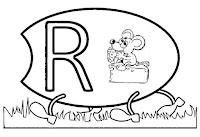 Alfabeto centopeia letra R