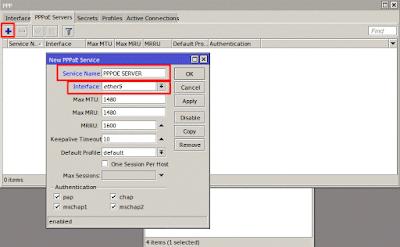 Konfigurasi PPPoE Server Pada Router Mikrotik
