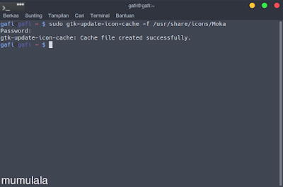 gtk-update-icon-cache: The generated cache was invalid