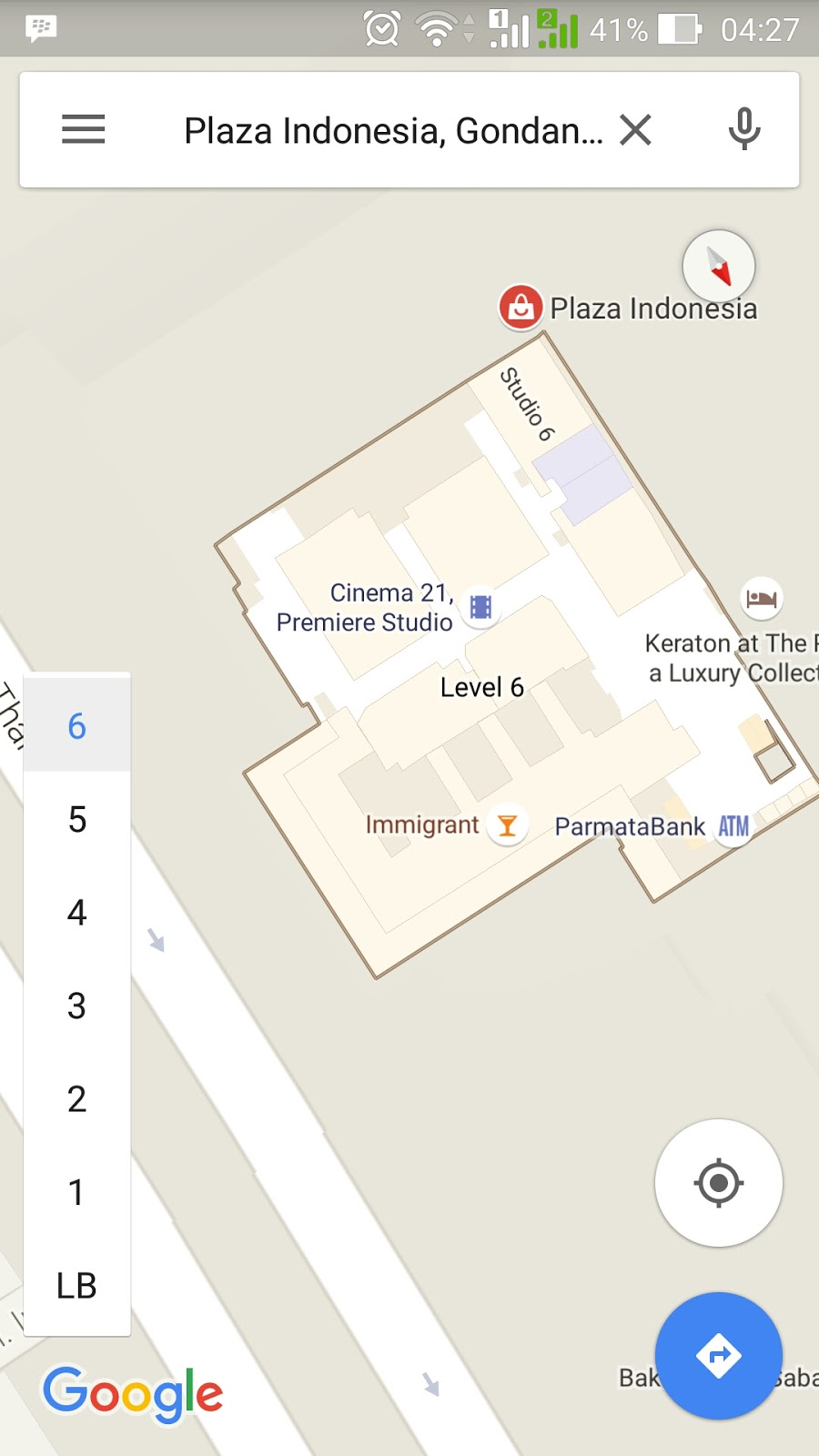 Google map indoor plaza Indonesia