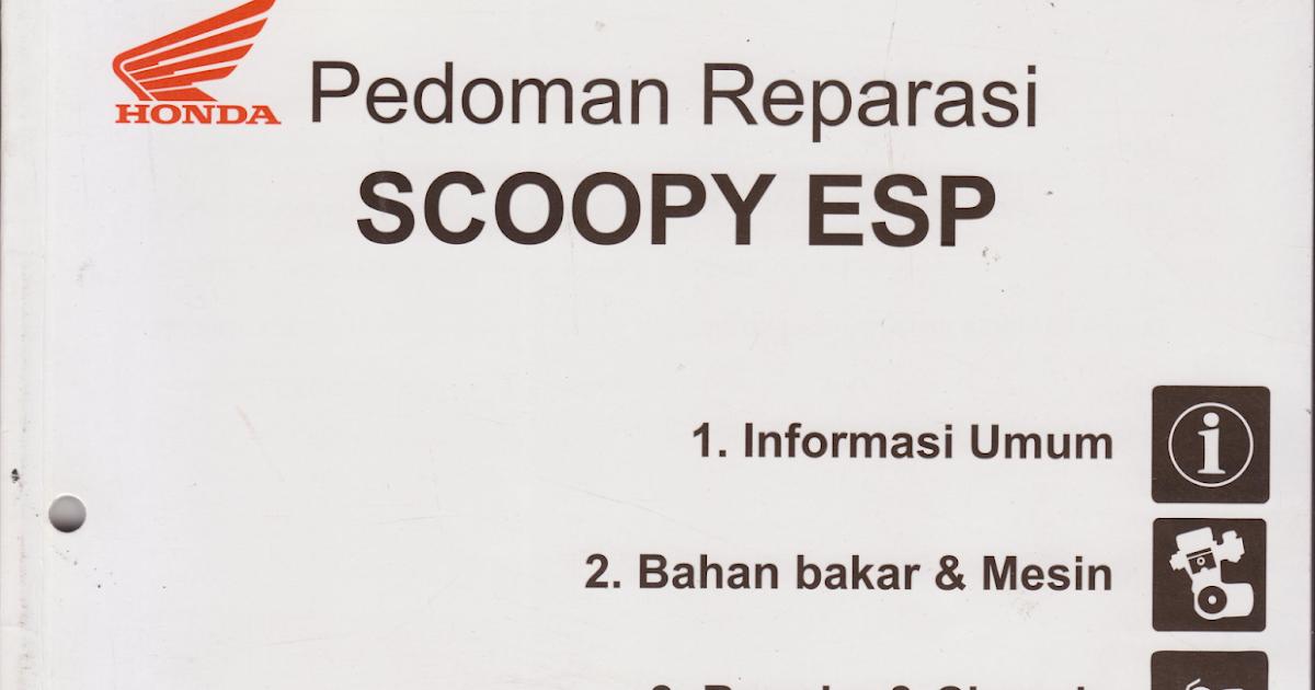 Scoopy ESP  BUKU MANUAL