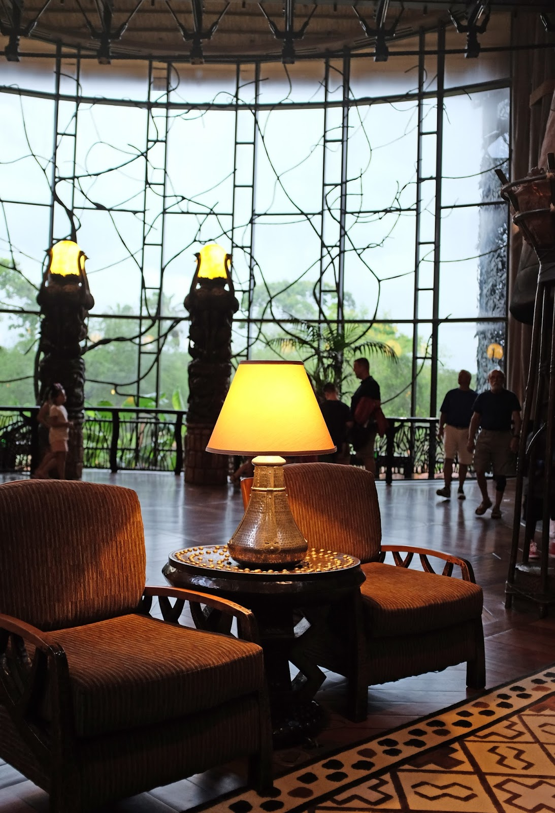 The lobby at Disney's Animal Kingdom Lodge