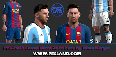 PES 2013 Lionel Messi 2016 Face By Detodoparatupes