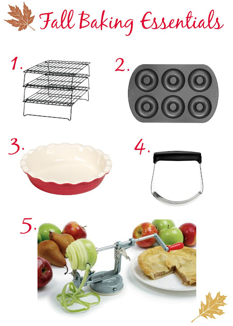 Get yourself ready for that fall donut baking, apple picking, pie making goodness with my top 5 Fall Baking Essentials. #affiliate