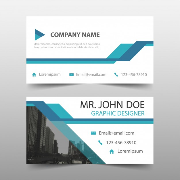 Blue corporate card Free Vector