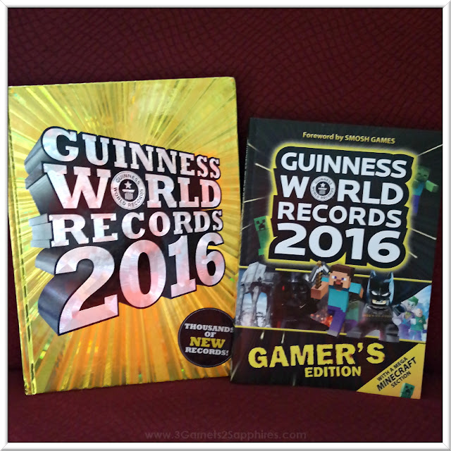 Guinness World Records 2016 Book and  Guinness World Records 2016 Gamer's Edition  |  www.3Garnets2Sapphires.com
