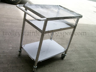 trolley makanan stainless