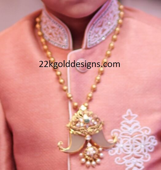 Gold balls Puligoru chain for kids