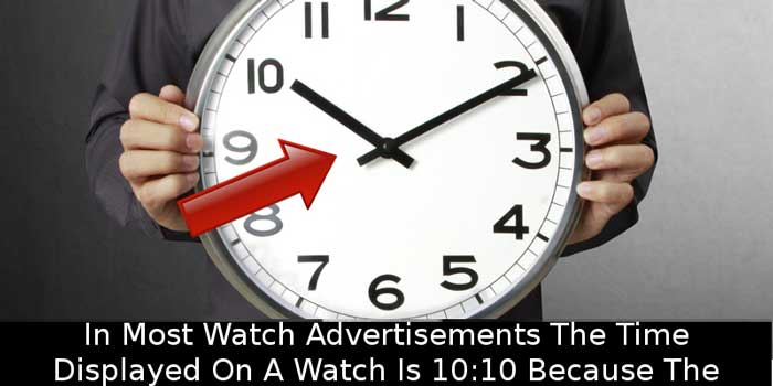 Why do watches in ads show 10:10?
