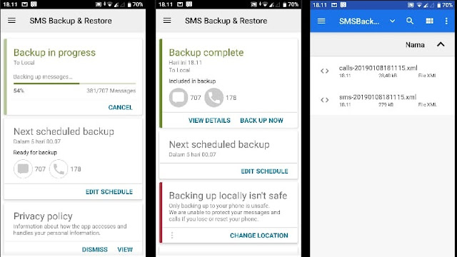 Cara Backup SMS Di Android by 6