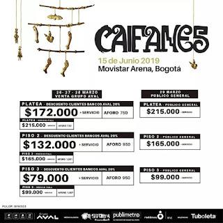 concierto de CAIFANES en Colombia