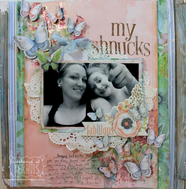 """ My Shnucks"" layout by Bernii Miller for the BoBunny design team."