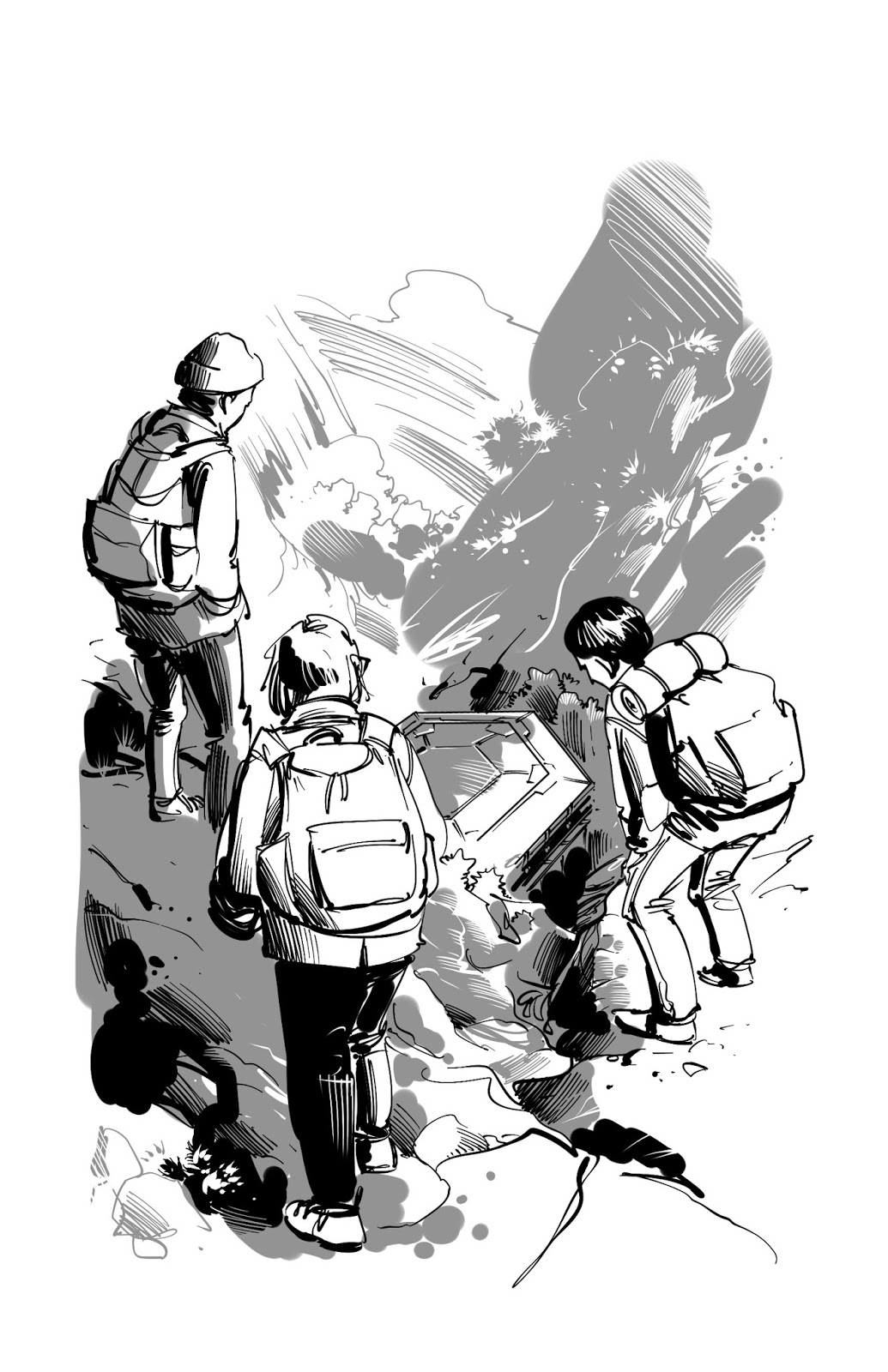 science fiction story illustration