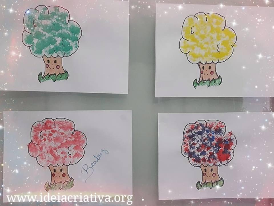 Atividade Dia Da Arvore Educacao Infantil Com Pintura