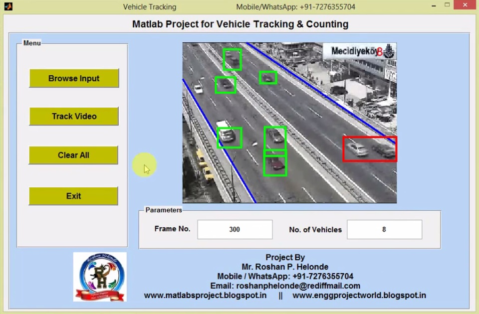 Vehicle Tracking and Counting Using Matlab Project Source