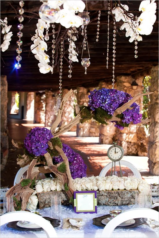 fairy wedding fairytale tale theme purple decoration decorations weddings idea themed perfect tail most glass tips crystal centerpiece table credits