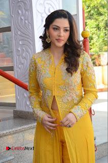 Actress Mehrene Kaur Stills in Yellow Long Dress at Sundeep Kishan New Movie Opening .COM 0076.JPG