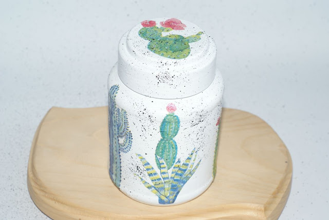 kaktusowe love - słoik w kaktusy - kaktusy serwetki