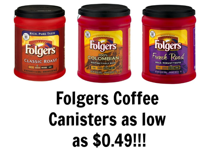 picture relating to Folgers Coffee Coupons Printable identify Folgers Espresso as very low as $0.49 for every canister at Tops