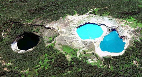 Mysterious Three Colored Lakes