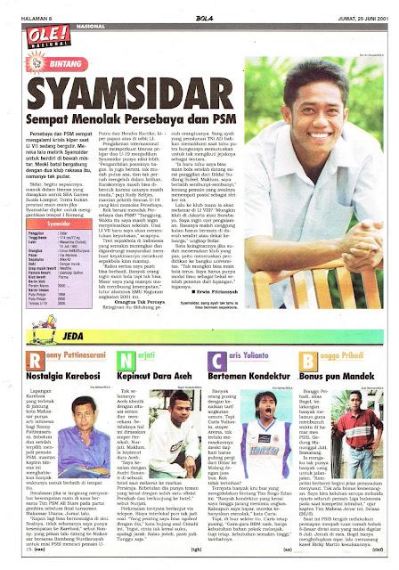 PROFIL BINTANG LIGA INDONESIA SYAMSIDAR