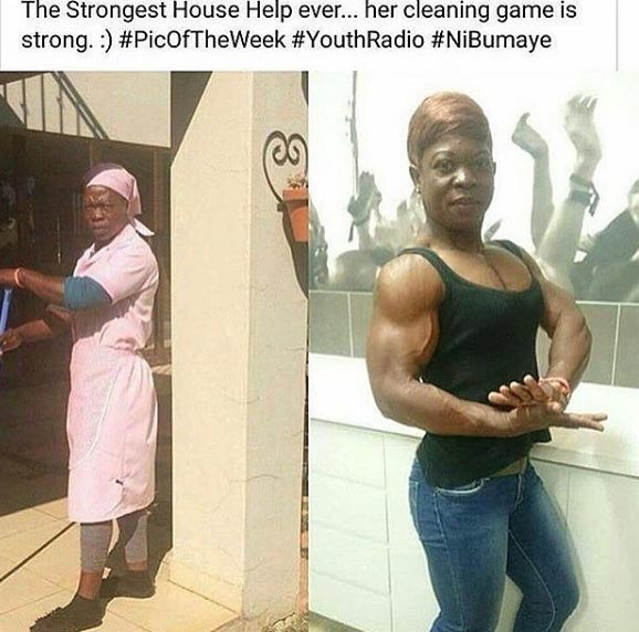 "Woman goes viral for being the ""strongest female housekeeper"""