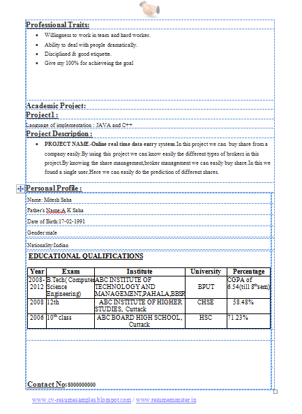 Resume Template For College Students Http Www Resumecareer  Resume Of A College Student