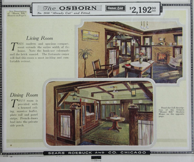 Sears Osborn interior spaces shown in catalog