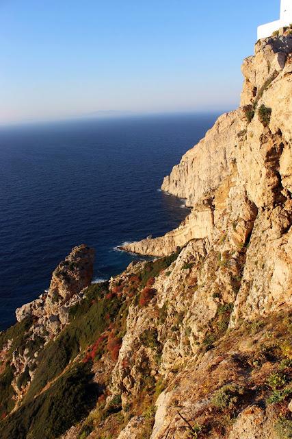 Greece, folegandros, chora, white, church, panagia, virgin, mary, panorama, view, horizon, highest