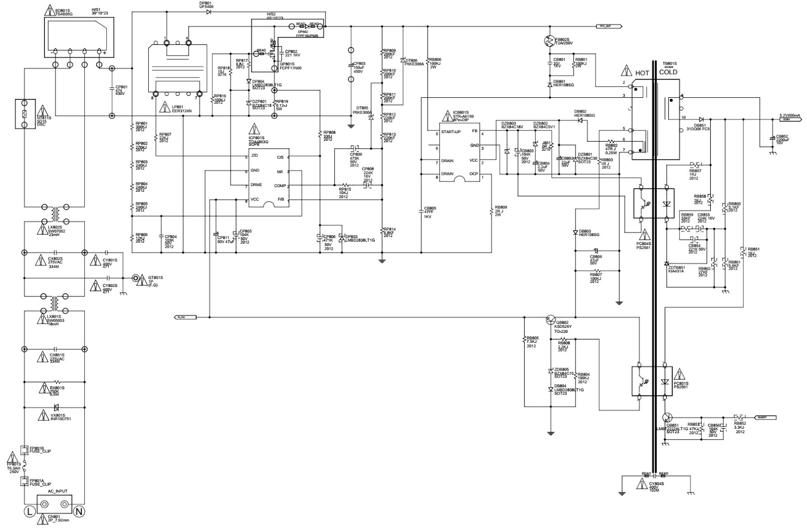 Bn44 00192a Samsung Universal Power Supply For Lcd Tvs Circuit Negative Dual Powersupplycircuit Diagram Schematic Click On The Pictures To Magnify