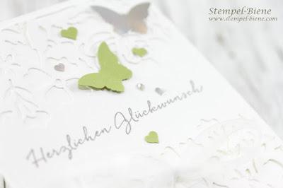 Hochzeitskarte stampinup; Stampinup Florale Fantasie; stempel-biene