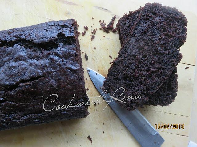 Zucchini chocolate Wholewheat Cake/Bread